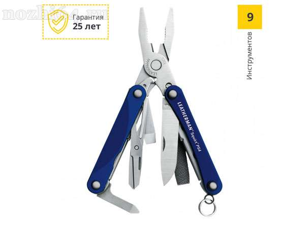 Мультитул LEATHERMAN 831230 SQUIRT PS4 BLUE